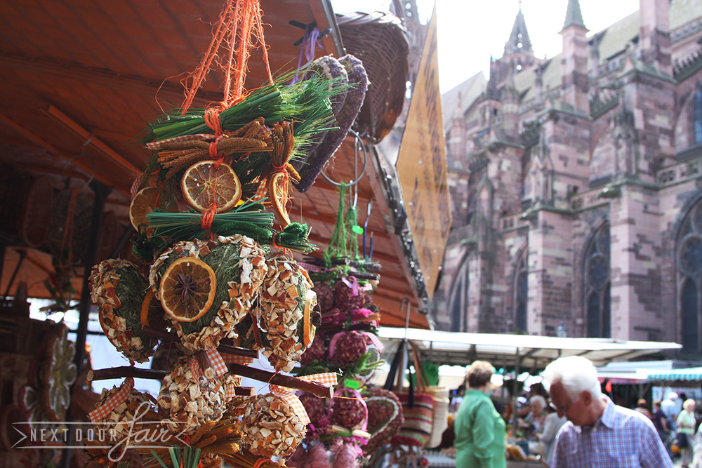 The flower / vegetable market in Freiburg -  the sunniest and warmest city in Germany